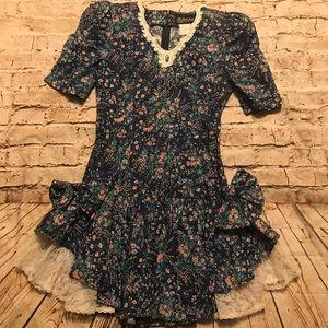 VTG All that Jazz Floral Big Bow Dress.